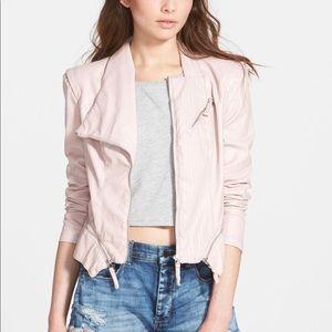 Blanknyc Blush pink leather jacket